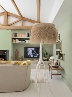 Salon télé cosy