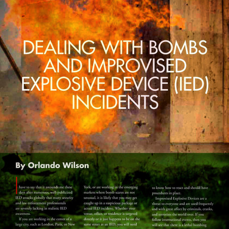 Dealing With Bomb & IED Incidents - Counter Terrorist Magazine