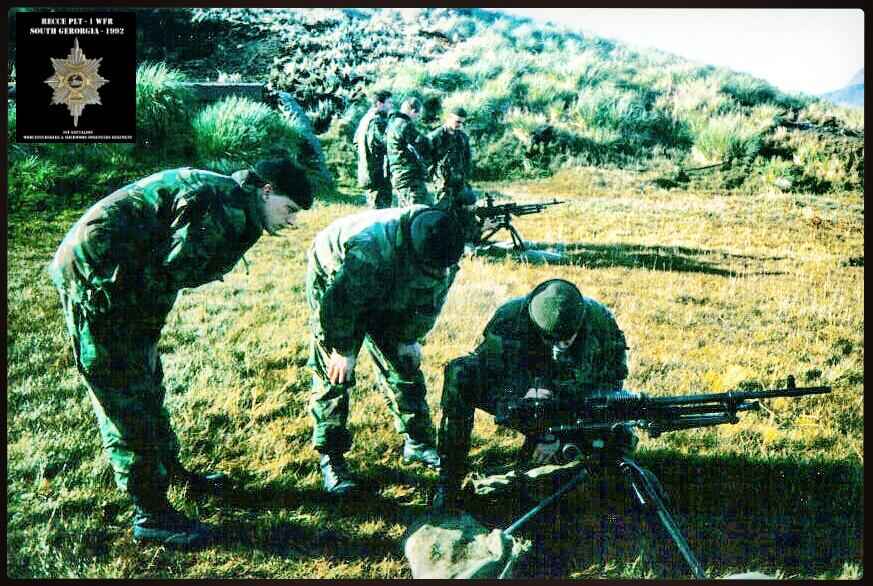 RECCE PLT - 1 WFR - SOUTH GEORGIA - BRITISH ARMY
