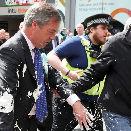 Nigel Farage Hit By A Milkshake Attack... Security Fail!