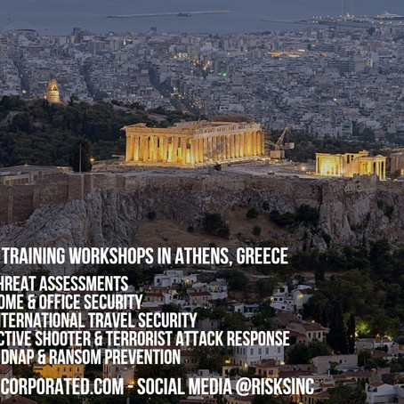 Personal Security Training Workshops in Athens, Greece