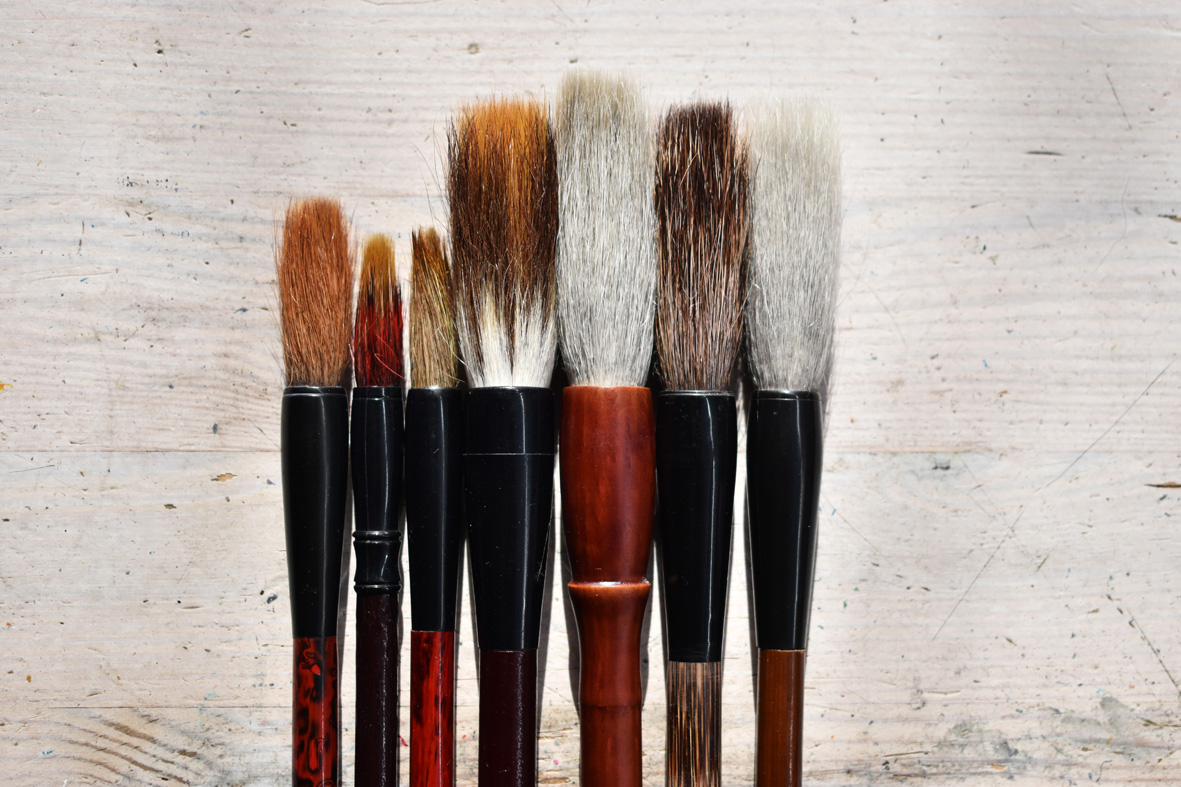My collection of Chinese brushes