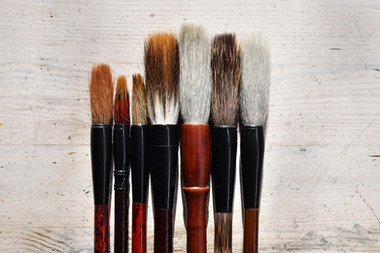 Chinese painting brushes