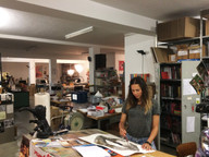 My first studio in Zurich, 2018