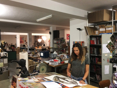 My first studio in Zurich, 2018