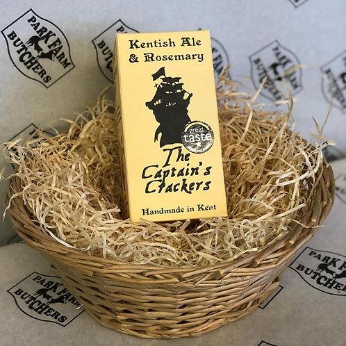 Kentish Ale & Rosemary Crackers