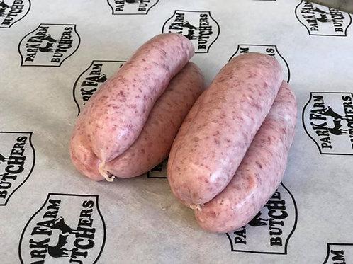 Home Made Free Range Plain Pork Sausage
