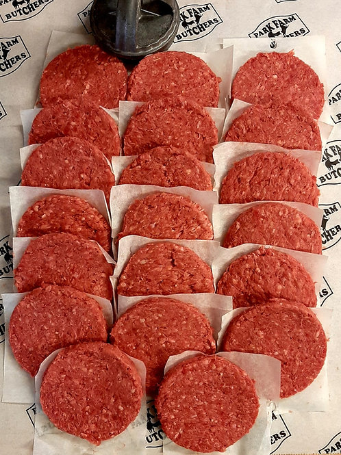 Frozen Sussex Dry Aged Beef Burgers