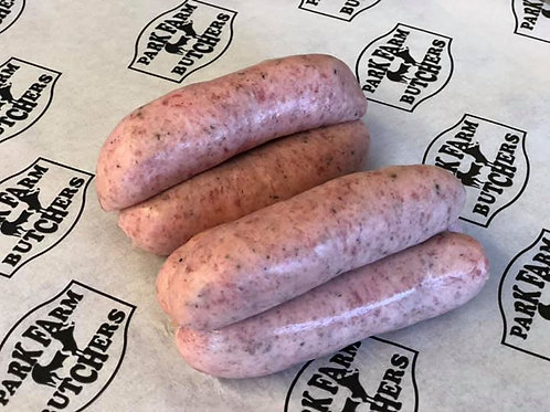 Home Made Free Range Lincolnshire Sausages