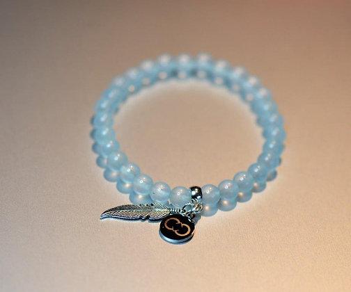 Aquamarine Clear Bracelet