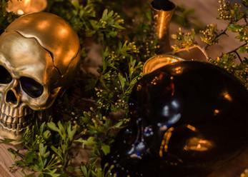 Skull wedding decor