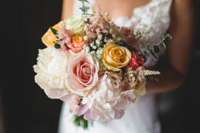 Summer Eco wedding bouquet
