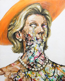 Woman in orange - 40x50 cm