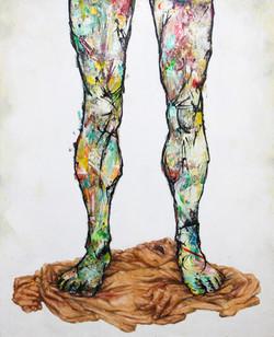 His legs - 100x81cm