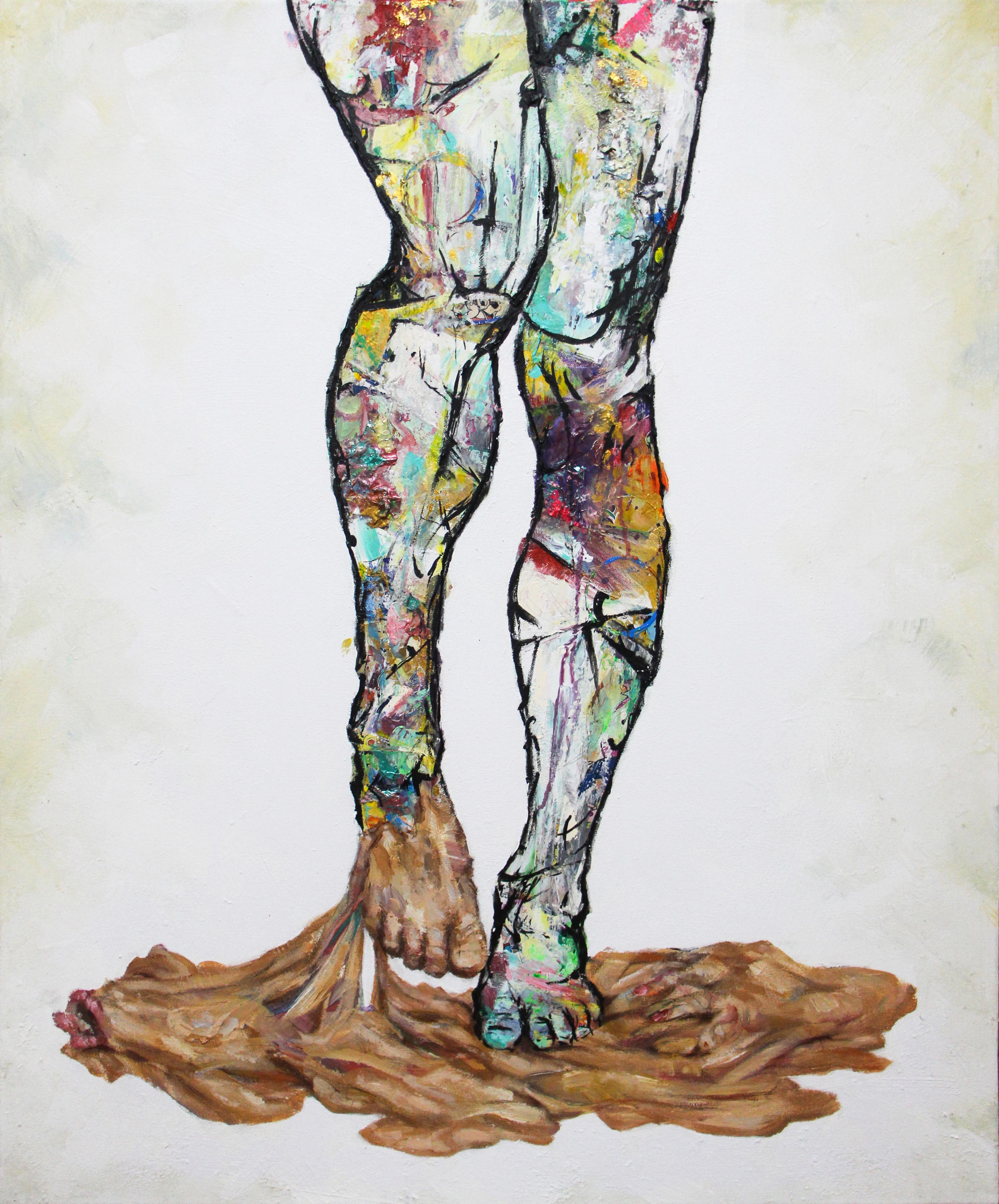 Her legs - 100x81cm