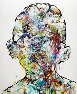 Boy´s big head - 100x81cm