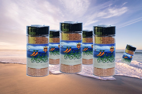 33 Peppers Island Style Datil Pepper Dry Rub - 6 Jar Pack