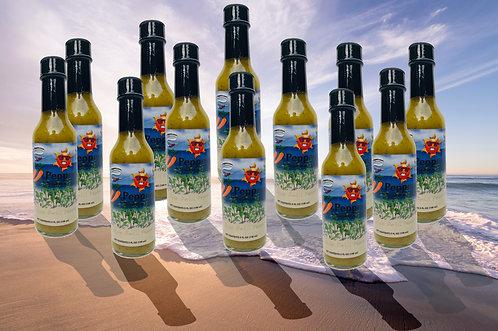 33 Peppers Island Style Datil Sunburn Sauce- Case (12 Bottles)