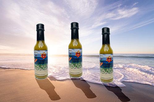 33 Peppers Island Style Datil Sunburn Sauce - 3 Bottle Pack