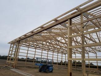 Framed Closeup   Post Frame Building   CPS   Hunnewell, Missouri