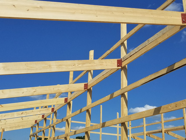 Interior Wall Bolt Bracket | Post Frame Building | CPS | Hunnewell, Missouri