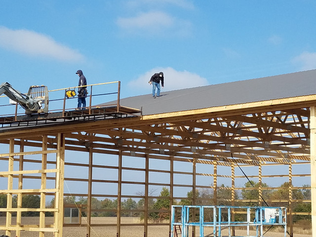Roof Construction | Post Frame Building | CPS | Hunnewell, Missouri