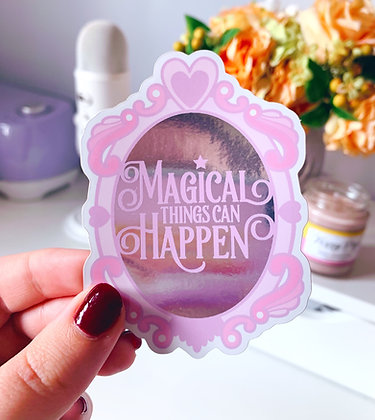 Magical Things Mirror Vinyl Sticker