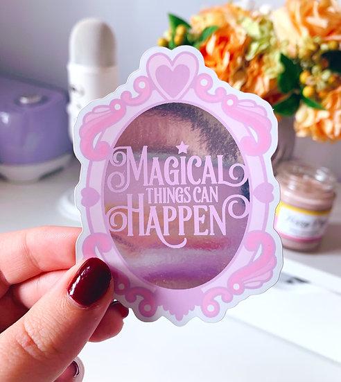 Magical Things Mirror Vinyl Sticker