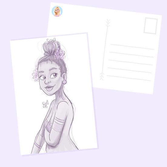 Sketch Postcard Print