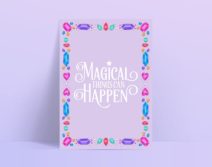 Magical Things Can Happen Illustrated A5 Print