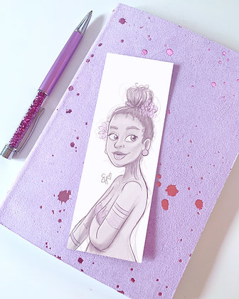 'Lola' Illustrated Bookmark