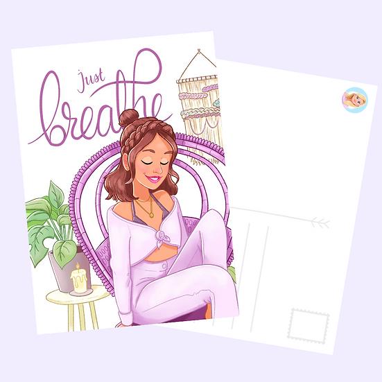 Just Breathe Postcard Print