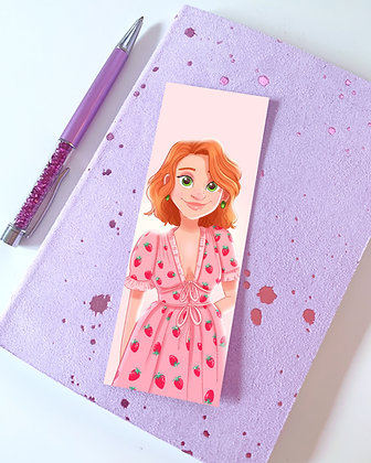 Girl in the Strawberry Dress Illustrated Bookmark