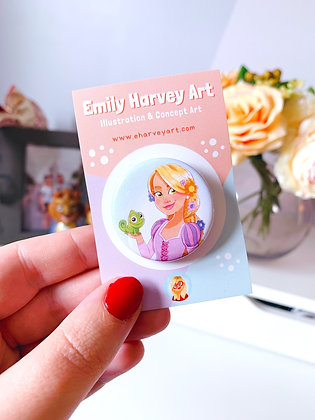 Rapunzel Button Badge