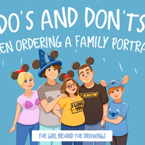 Do's and Don'ts When Ordering an Illustrated Family Portrait!