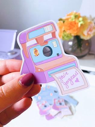You're Gorgeous Polaroid Sticker