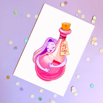 Self Love Potion Illustrated A5 Print