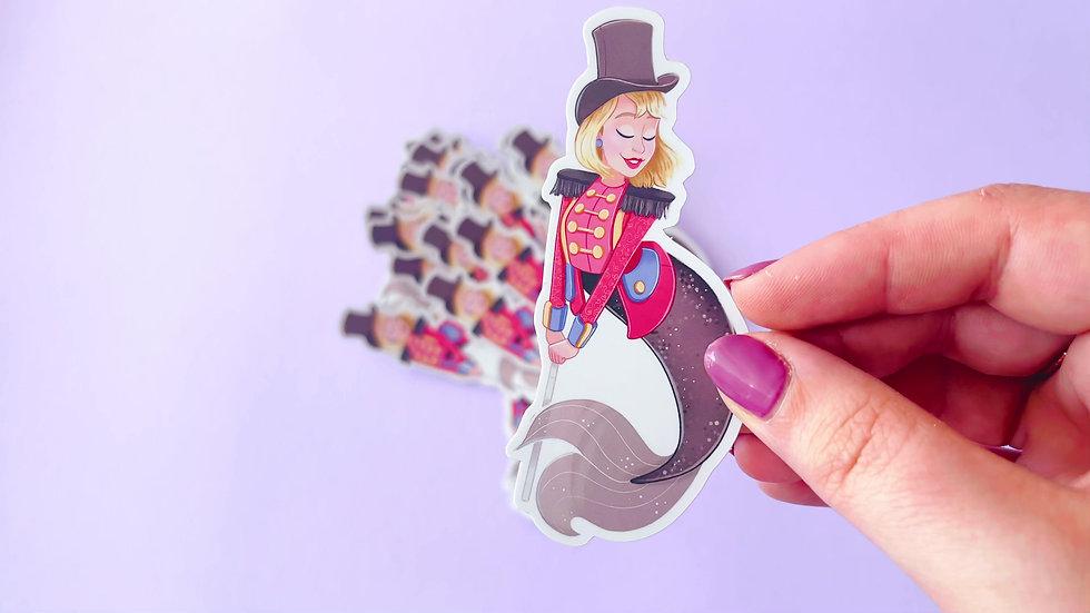 Circus Mermaid Holographic Vinyl Sticker