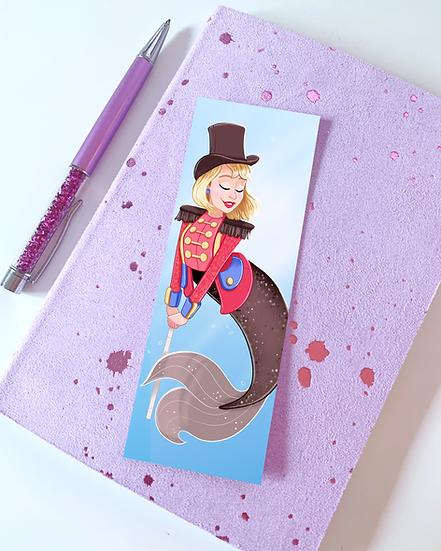 Circus Mermaid Illustrated Bookmark by Emily Harvey Art