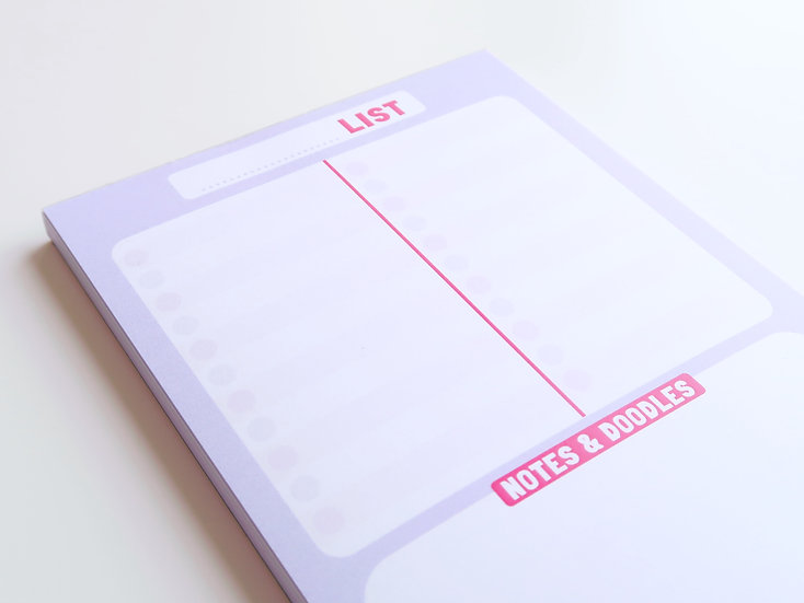 A6 To Do List Note Pad with Tearable Pages
