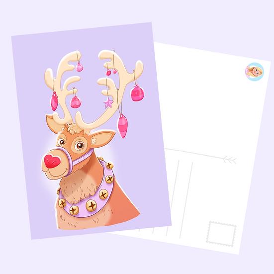 Reindeer Postcard Print