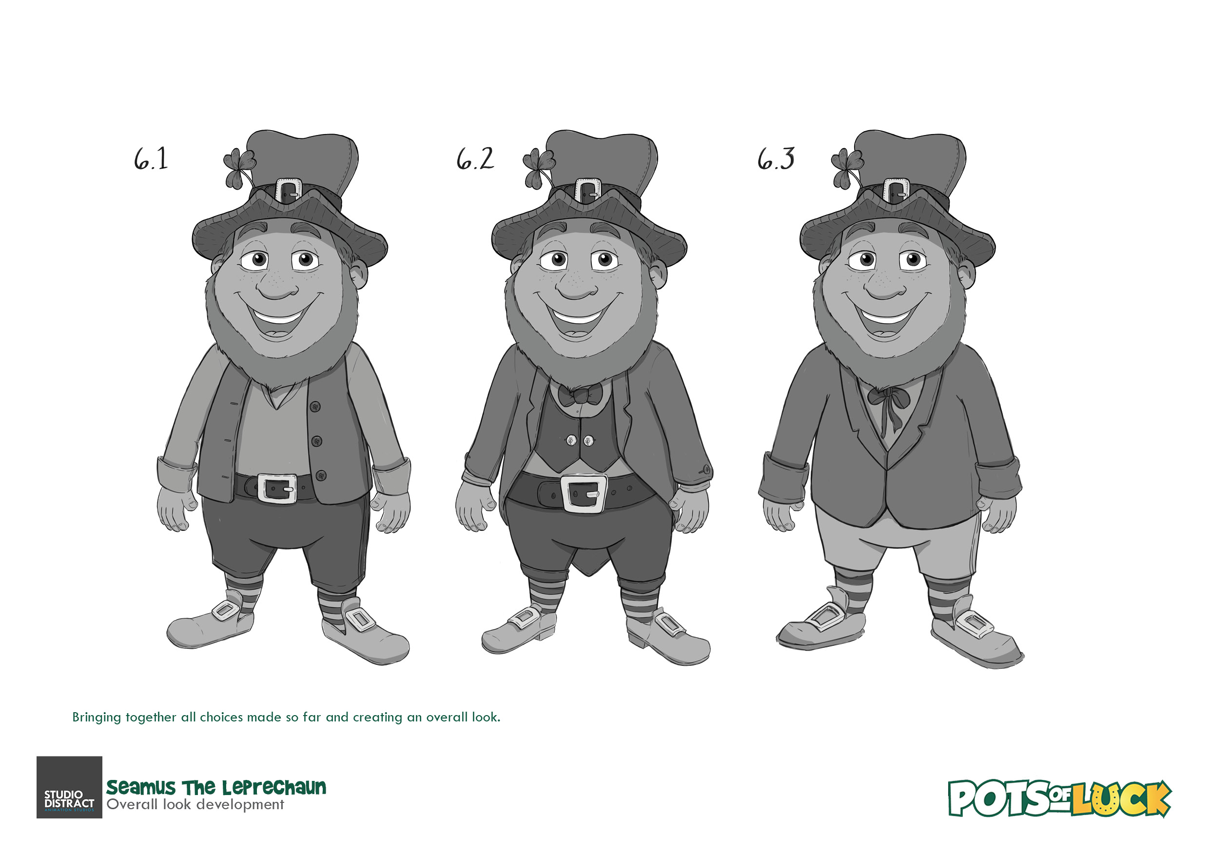 Pots of Luck Character Design