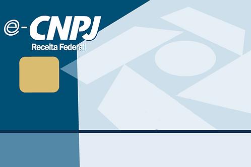e-CNPJ A3 + Cartão + Leitora - 1 ano