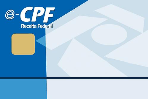e-CPF A3 + Cartão + Leitora - 1 ano