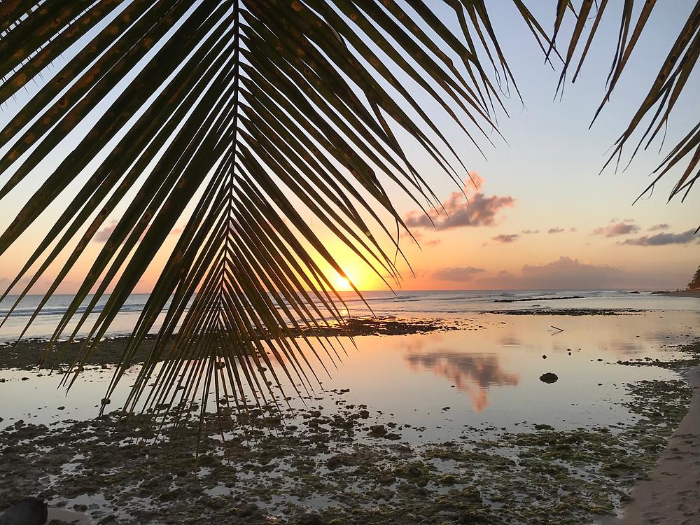 Coucher de soleil à Bridgetown Barbados