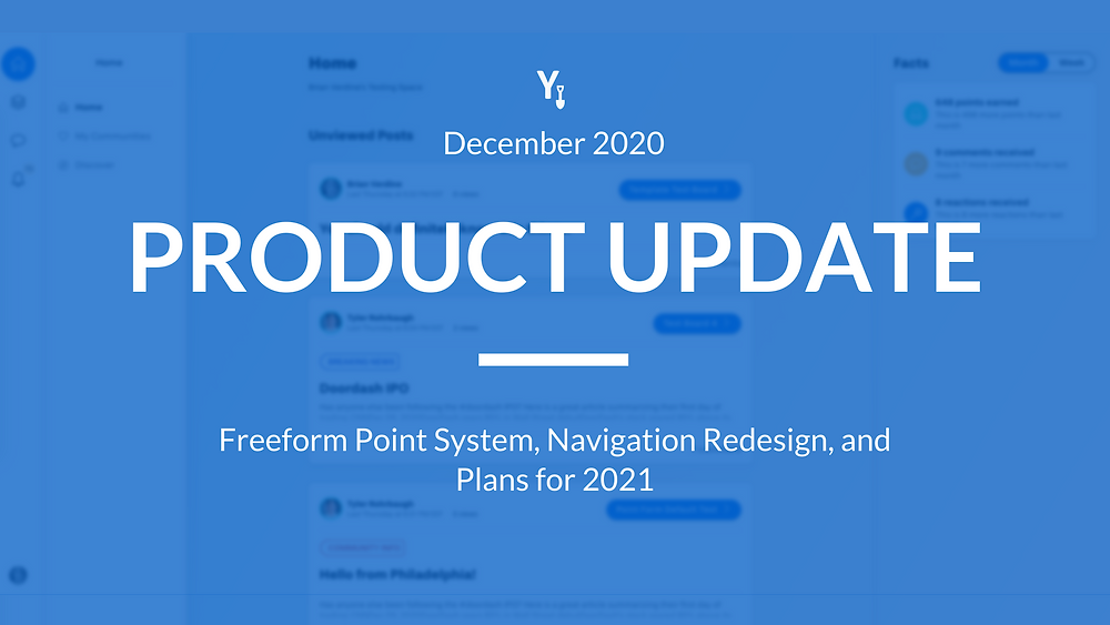 December 2020 Product Update to Yellowdig's Virtual Classroom