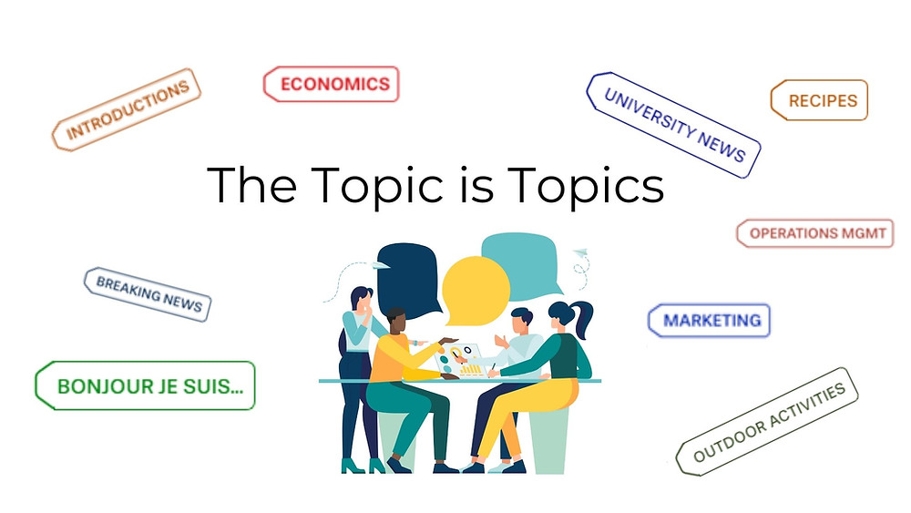 The topic is topics for virtual classrooms
