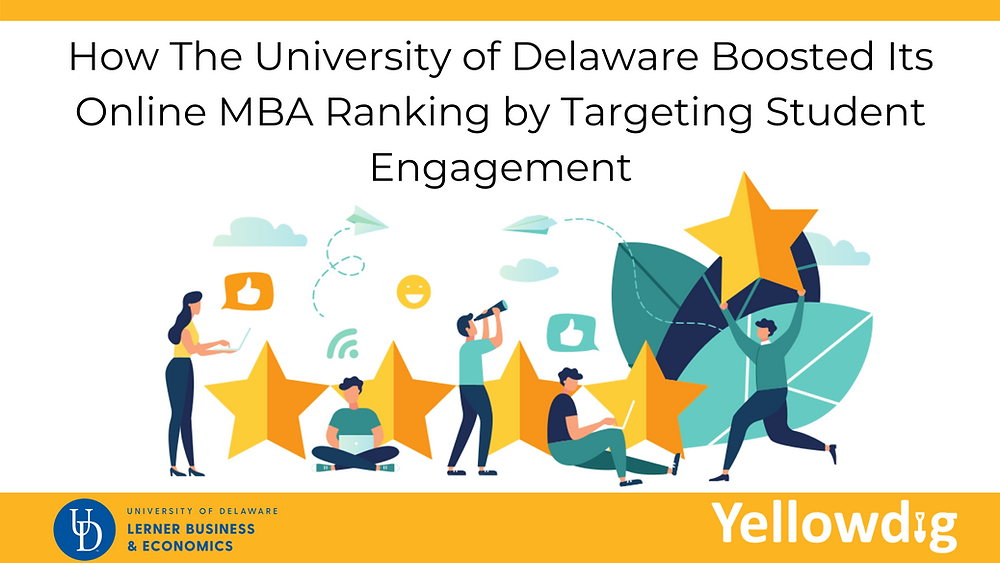 How UD Boosted its online MBA ranking by targeting Student Engagement