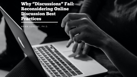 """Why """"Discussions"""" Fail: Reconsidering Online Discussion Best Practices"""
