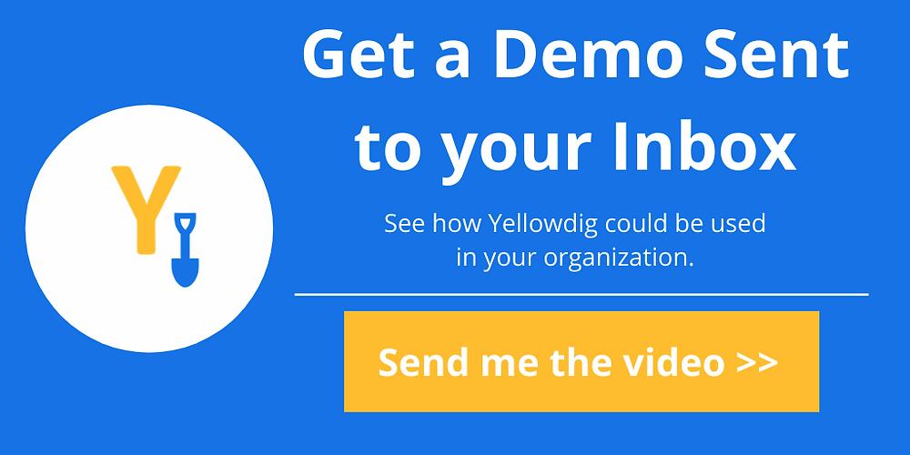 Get a demo sent to your inbox of yellowdig's virtual classroom platform